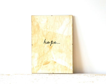Vintage look Wall Decor, Poster, Sign - Hope