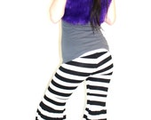 Flow Pants in Black and White Stripes