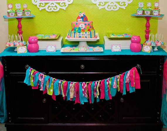 Owl Birthday Party - Look Whoo's Turning - PRINTABLE Personalized Party Package - With Photo Invitation