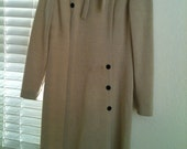 Vintage Wool Dress ladies size 14  1950's or 60's by Kimberly