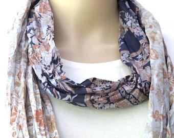 Silk scarf, Infinity Scarf, Sari scarf
