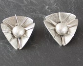Space Age Modernist Spiky Clip On Earrings