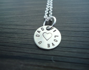 "1/2"" Circular Name, Message or Date Charm"