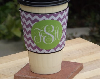 Chevron or create your own Coffee Cup Sleeve