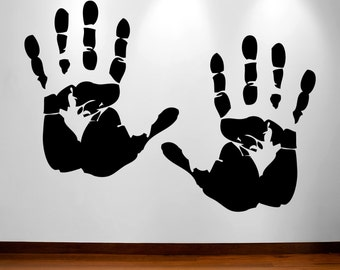 Hanprint decal- two large size handprint decals