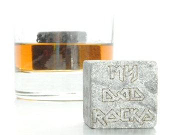 My Dad Rocks Whiskey Stone Gift Set - Father's day gift - Gift for Dad - whisky rocks - fathers day gift - father of the bride