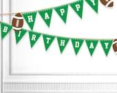 Football Birthday Banner Printable