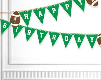 Football Birthday Banner Printable