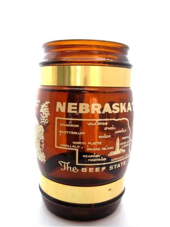 Vintage Siesta Ware Nebraska Souvenir Mug