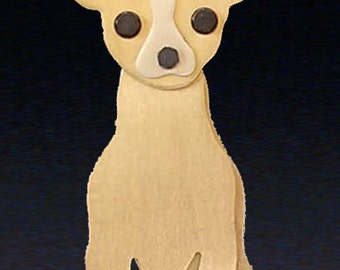 Chihuahua Jewelry - Chihuahua Pin or Pendant - by Anita Edwards