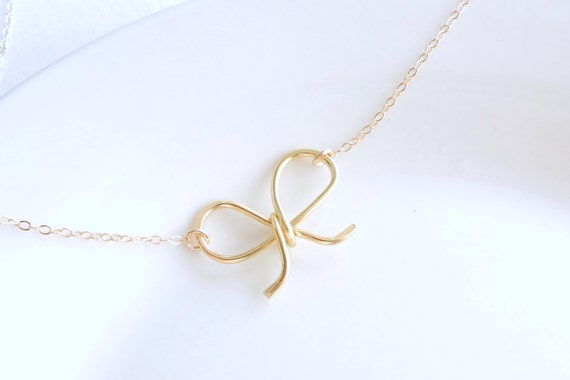 Darling Bow necklace.