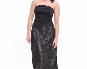 OOAK - straight black skirt with slits