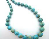 Graduated Mosaic Turquoise Beads