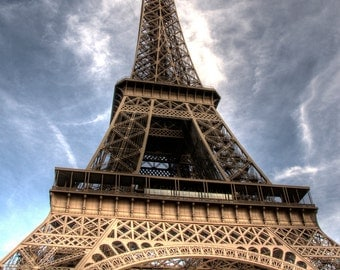 EIFFEL TOWER PARIS France Photo Print Eiffel Tower Sunny Sky