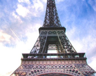 PARIS EIFFEL TOWER Vibrant Color Eiffel Tower Paris France Photo Print