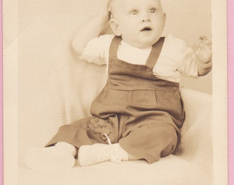 """Ca. 1909 """"Waving Baby"""" Real Photo Postcard - 705"""