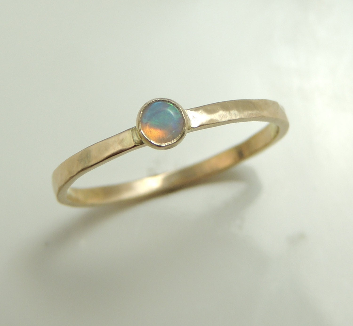 items similar to sale 14k gold opal ring on etsy