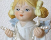 1988 Collectible Porcelain Angel You're A Gem Of A Friend