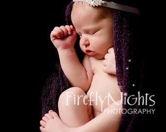Newborn Velvet & Crystal Luxe Headband - Newborn Baby Girl Toddler Infant Teen Adult Headband