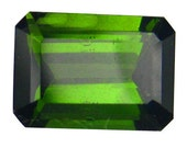 Pretty Green Tourmaline Loose Faceted Gemstone for Setting as Jewelry, RARE, Collectible, 1.05 carats, CIJ SALE