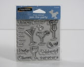 Join the Party set - Clear Rubber Stamps - by Fiskars