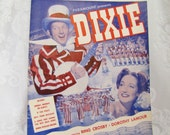 Sunday, Monday, or Always- Antique Piano Sheet Music from the Paramount Movie 'Dixie' starring Bing Crosby- 1943