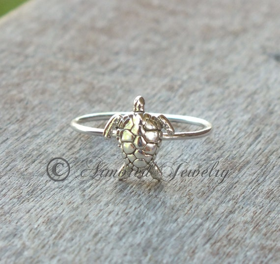 seaturtle sea turtle ring sterling silver sea by