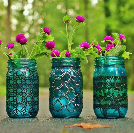 Trio of Mason Jar Lanterns