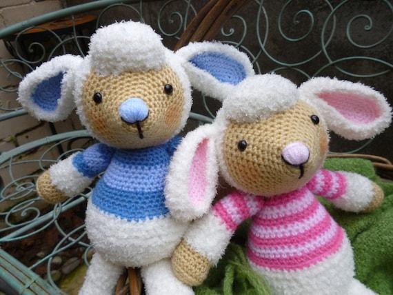 Amigurumi Sheep Doll : Spring Lamb Dolls Amigurumi Crochet Pattern Boy by ...