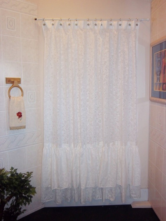 Oola La French Country Shower Curtain By Lizzypoppins On Etsy