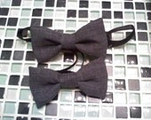 Charcoal grey little boys  bowtie listing for 1 qty
