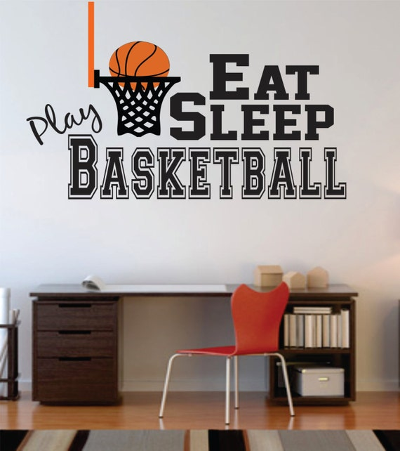 Basketball wall decal decal for boy baby nursery by - Comely pictures of basketball themed bedroom decoration ideas ...