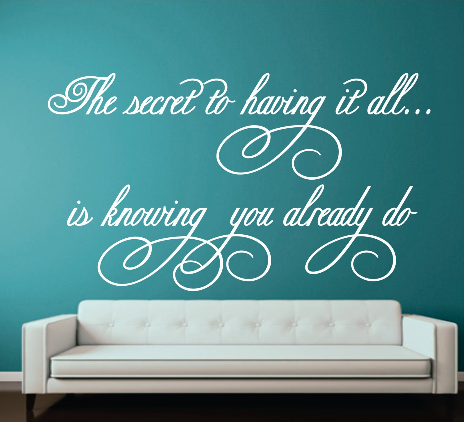 The secret to having it all-Girl Bedroom Wall Quote by ...