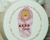 Baby Shower Favors - Personalized Whipped Body Butter  - Snug as a Bug Baby Shower Favors (Dark Skin Girl)
