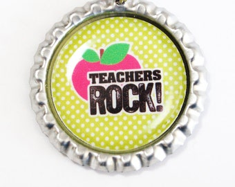 Teacher Bookmark, Teachers Rock, bookmark, book mark, Shepherd Hook, gift for teacher (2489)