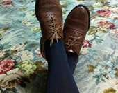 vintage tan leather brogues