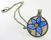 Flower Necklace-Wearable Painting Art Jewelry Pendant