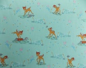 Reserved for Lauder's House Takahashi: Bambi and Thumper cotton fabric fat quarter, out of print