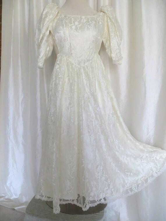 Vintage Gunne Sax 80s Wedding Prom Dress By GabriellasTreasures