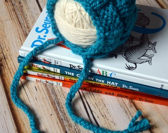 Basket Weave Bonnet KNITTING PATTERN newborn baby hat woven stitch easy beginner