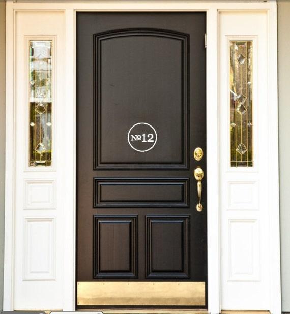 House Number Front Door Vinyl Decal.