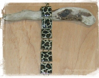 Leopard Print Bracelet - Leopard Print Fabric - Cloth Jewelry