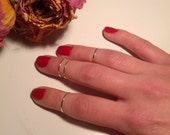 Silver Above the Knuckle Midi Rings, Set of 4