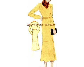 Plus Size (or any size) 1934 Vintage Coat Sewing Pattern - PDF - Pattern No 68 Earline