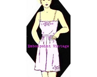 Plus Size (or any size) 1934 Vintage Camisole and Bloomers Sewing Pattern - PDF - Pattern No 20 Lottie