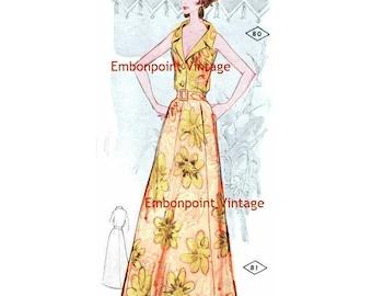 Plus Size (or any size) Vintage 1969 Blouse Pattern - PDF - Pattern No 80 Roxanne Blouse