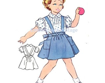 Plus Size (or any size) Vintage 1950s Blouse Pattern - PDF - Pattern No 151a Becky Blouse
