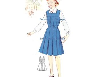 Plus Size (or any size) Vintage 1950s Dress Pattern - PDF - Pattern No 175: Lynne