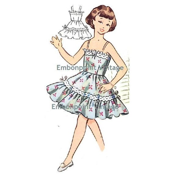Plus Size (or any size) Vintage 1950s Petticoat Pattern - PDF - Pattern No 210 Sara