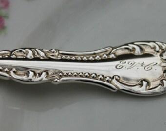 Mono EVC ANTIQUE Silverware Key Chain Spoon Key Holder CARLTON 1898 Key Chain Key Ring Mono